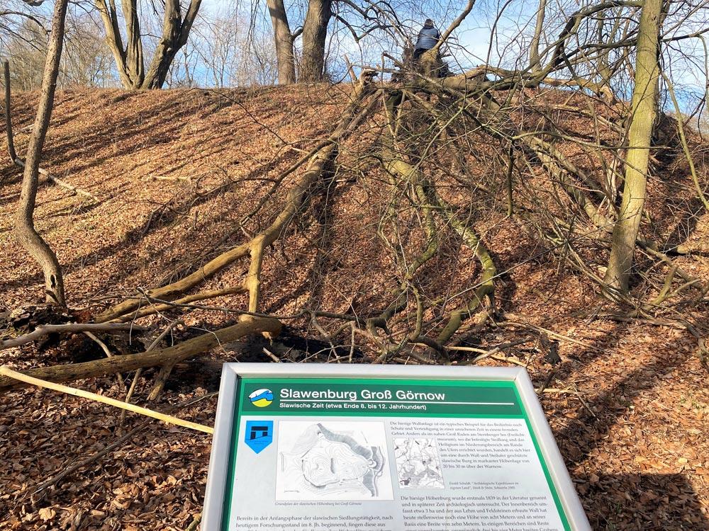 Reste einer slawischen Höhenburg