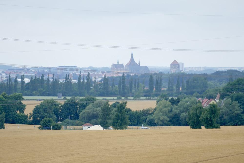 Blick auf die Stadt Rostock