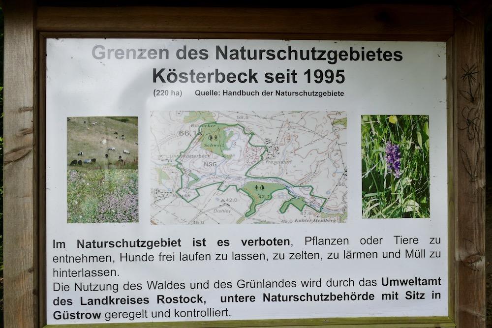 Eingangsschild Naturschutzgebiet Kösterbeck
